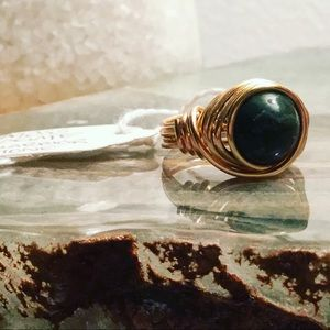 Jewelry - ‼️ONEHOURSALE‼️ Boho style ring moss agate